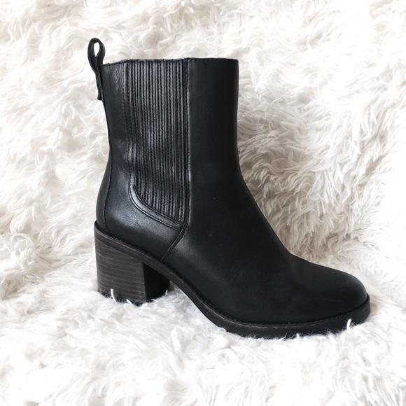 Camden Black Leather Chelsea Boot